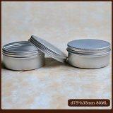 frasco de creme do estanho das latas 80ml de alumínio