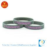 Bracelet en gros de silicones de coloration de cadeau de promotion