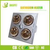 Verwarmer/Muur van de badkamers zette de Gouden Infrarode Verwarmer van 4 Lampen op