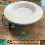 lampe AC120V de 8W Dimmable DEL Downlight 4 pouces d'ampoule avec la conformité d'UL