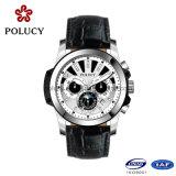 Relojes de cuero de China fabricantes de equipos originales del cronógrafo de los hombres