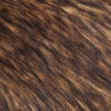 Macが付いている長いPilrファブリックFrの毛皮ファブリック偽造品の毛皮の人工毛皮ののどの毛皮の