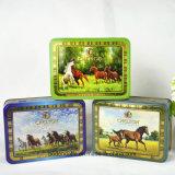 Kundenspezifischer rechteckiger eingehängter Kappen-leerer Tee-Zinn-Kasten