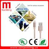 Micro cabo trançado da tela da sincronização cobrar e de dados do USB para o Android
