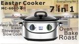 Homologation 7 d'ETL dans 1 cuiseur multi de l'acier inoxydable Mc-603D de cuiseur lent