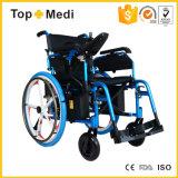 Topmedi Equipement médical Aluminium Foldable Power Electric Wheelchair China Factory