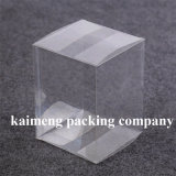 Caixas plásticas personalizadas da dobradura desobstruída do pacote do animal de estimação para o armazenamento (caixas plásticas)