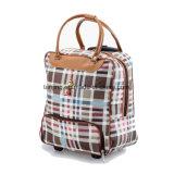 Дело мешка багажа шаржа чемодана PU мешка перемещения вагонетки кожаный