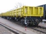 سكك الحديد عربة خشبيّة مع قالب