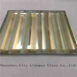 vidrio de oro ligero del vidrio/arte del vidrio laminado/arte de 10m m/vidrio Tempered/vidrio decorativo
