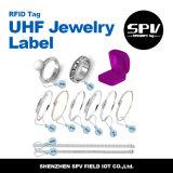 Escritura de la etiqueta pasiva impermeable de la joyería del extranjero H3 RFID de la frecuencia ultraelevada