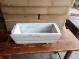 자연적인 정원 재배자 화분 목제 상자 침대 백색 장방형 남비