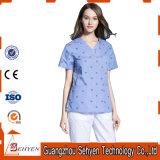 Unisex esfrega o uniforme médico dos cuidados do &Bottom superior do algodão