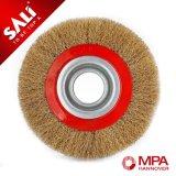 Escova de lustro da roda de escova do fio de aço da função