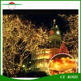 Свет шнура медного провода вставки 100LED ландшафта Decotation рождественских елок солнечный с белым/теплым белым цветастым светом СИД