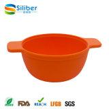 Pratos de alimentação da criança das bacias do alimento do petisco do silicone do bebê do produto comestível