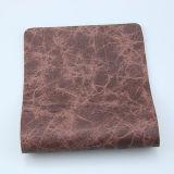 Мраморизуя кожа PU конструкции напечатанная картиной синтетическая для драпирования мебели софы (F8003)