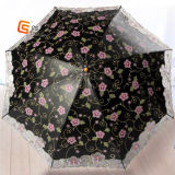 2 parapluies Lady Folding avec impression et broderie (YS-2F1001A)