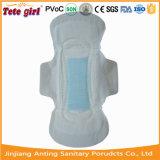 Senhora seca toalha sanitária da superfície do engranzamento, guardanapo sanitários das mulheres