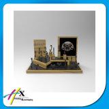 Visualización de madera del reloj de la laca de la visualización de acrílico Alto-Brillante del Trade-Show