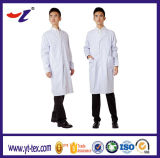 Utilisé dans la robe antistatique de blanc de vêtement de laboratoire