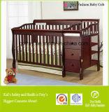 引出しが付いているベビーベッドの純木の赤ん坊の家具