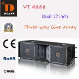 Vt4888 linha PRO dobro audio da disposição 12 polegadas