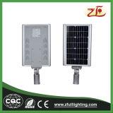 Alumínio elástico 30W todo em uma luz de rua solar do diodo emissor de luz