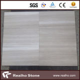 Chinesisches Weiß-hölzerne Ader-Marmor-Fliesen/Platte für Bodenbelag