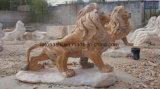Steen van de Tuin van de Kunst van de Tuin van het graniet de Dierlijke Grote voor het Standbeeld/de Gravures van het Beeldhouwwerk van het Standbeeld van de Leeuw
