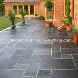 Popular natural Negro Slate pavimentación de losa de patio al aire libre
