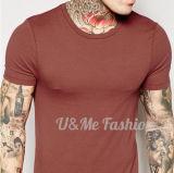 T-shirts légers d'hommes de coton de plaine faite sur commande en gros de mode