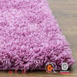 毛羽織り敷物の居間及び寝室の固体紫色5*8領域敷物のシャギーなカーペット