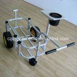 Carro de alumínio da pesca com o produto de pesca da roda dianteira