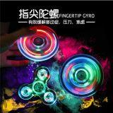 Het LEIDENE Transparante Kristal van de Lantaarn friemelt de Spinner van de Hand van de Spinner
