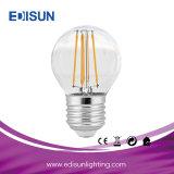 Ampola do filamento do diodo emissor de luz de RoHS 5W G45 E14/E27 do Ce