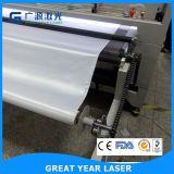 ファブリック織物のためのレーザーの打抜き機を自動入れる二重ヘッド