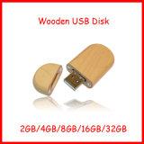 Mecanismo impulsor de madera del flash del USB del óvalo de Thumbdrive de memoria Flash del USB Pendrive