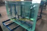 Glace de flotteur claire Tempered/stratifiée personnalisée pour la frontière de sécurité d'escalier structurale