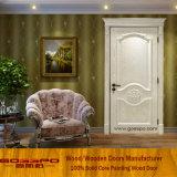 Alta calidad y el color blanco de madera sólida Puerta Interior (GSP2-076)