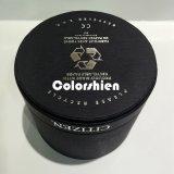 Boîte-cadeau ronde noire d'emballage de papier de montre de qualité