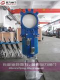 Messer Gate Valve mit Double Action Pneumatic Actuator