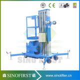 levage aérien électrique de travail de plate-forme de levage d'alliage d'aluminium de 6m