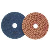 Almofadas de polonês rígidas do diamante bond da resina para o assoalho concreto de lustro molhado ou seco