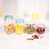 Luftdichtes Süßigkeit-Glas-/Maurer-Glas-/Kerze-Glas-Glasspeicher-Glas mit Klipp/Schelle/Sperrung-Kappe