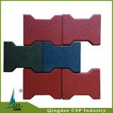 Pavimentadora de goma del azulejo del color de goma al aire libre del azulejo