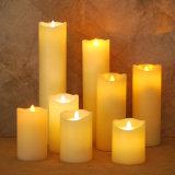 6 7 8 9 pulgadas de vela sin llama del fieltro móvil alto LED