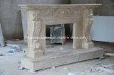 Travertino beige naturale  Mensola del camino di marmo del camino (SY-MF311)