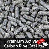 Groupement de la litière du chat de pin, couvre-tapis de litière du chat, aucune litière du chat de bentonite