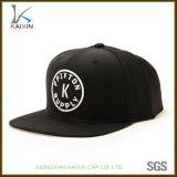 Aduana barata ningún sombrero no estructurado de acrílico negro mínimo del casquillo del Snapback